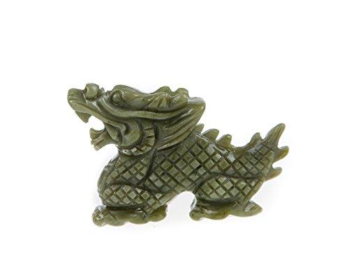 Yuchengstone Chinesische Tierkreiszeichen Figuren, aus hochwertigem grünen Marmor, handgefertigt und jede ist ein Unikat, Drachen