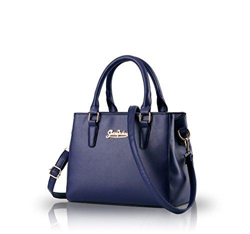 Nicole&Doris nuova marea borsa casuale delle donne del sacchetto di mano di moda e semplici signore(Black) zaffiro