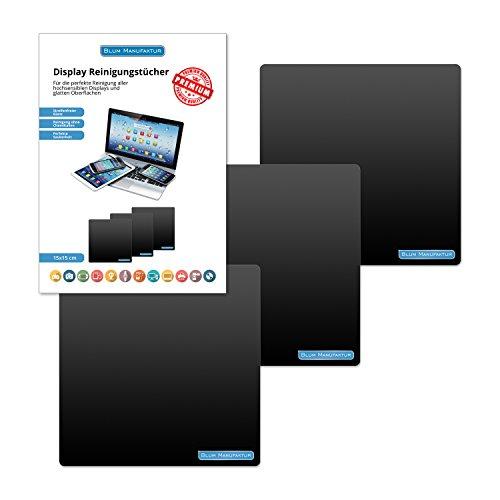 Blum - 3x Display-Reinigungstuch 15x15 cm - für die perfekte Reinigung von Bildschirm | Brille | Computer | Display | iMac | Kamera Objektiv | Laptop | Monitor | Notebook | Smartphone | Sonnenbrille | Spielkonsole | Tablet | TV | VR Brille und mehr.