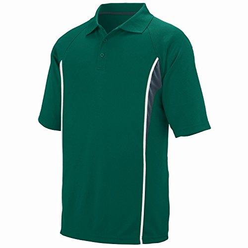 Augusta Herren Poloshirt Mehrfarbig - Dark Green/Slate/White