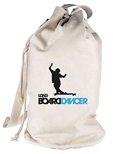 Longboard Dancer, Skateboard bedruckter Seesack Umhängetasche Schultertasche Beutel Bag Natur