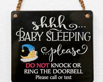 Gravelart Baby Sleeping Sign (Black)