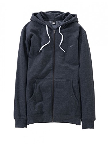 Pullover da uomo Cleptomanicx ' Ligull 60,96 cm con cappuccio e cerniera (CXHZLIG2) colore: blu scuro Navy Heather Nero