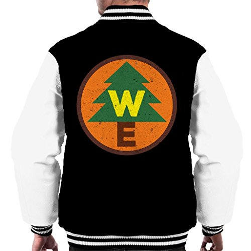 Cloud City 7 up Wilderness Explorer Badge Men's Varsity Jacket (Mens Explorer Jacket)