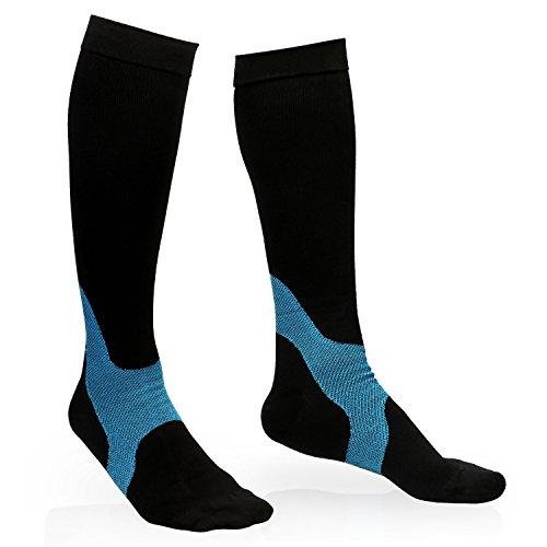 Kompressionsstrümpfe, YEENOR Kompression Socken Strümpfe 20-30 mmHg für Sport Flug Reisen Krankenschwestern Männer Frauen(M: EU 35-38) (Socke Radfahren Leichtes)