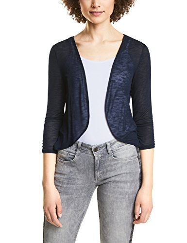 Street One Damen Strickjacke 312066 Gesa, Blau (Deep Blue 11238), 44