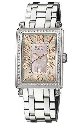 Gevril de la mujer 9248rlb Avenue Ladies Acero de Tamaño Medio Funda Rosa Dial Rosa números reloj de pulsera banda de acero.