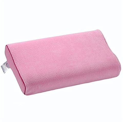 Natural latex student health oreiller traitement réparation cervical vertebral naturel latex durable , pink