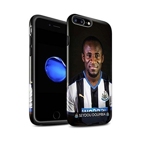 Offiziell Newcastle United FC Hülle / Glanz Harten Stoßfest Case für Apple iPhone 7 Plus / Rivière Muster / NUFC Fussballspieler 15/16 Kollektion Doumbia