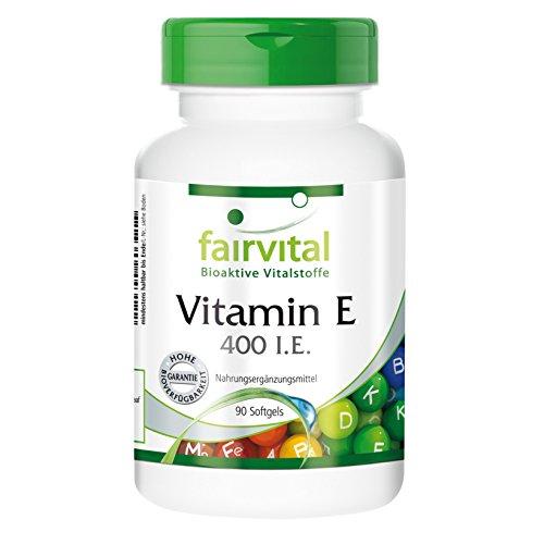 Vitamin E 400 I.E. - GROSSPACKUNG für 3 Monate - HOCHDOSIERT - 90 Softgels - Antioxidans