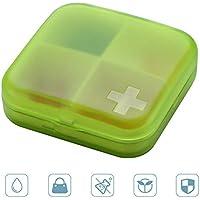 FOONEE Pille Fall, Reisen Pille Organizer Container mit 4Fächern Pillendose Spender, Kreuz Medizin Speicher für... preisvergleich bei billige-tabletten.eu