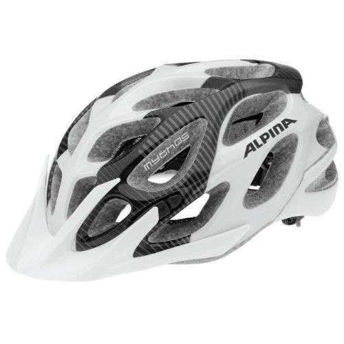 ALPINA Fahrradhelm Mythos 2.0 LE, Black/White, 57-62 cm, 9671330 by Alpina
