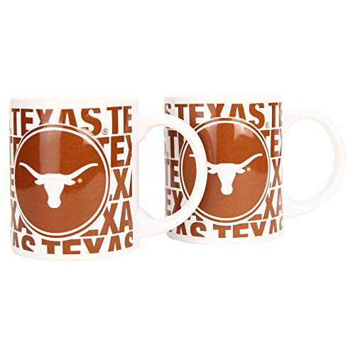 Boelter NCAA Collegiate Kaffeetasse mit Team-Logo, 340 ml, 2er-Pack, Texas Longhorns (Hype), 12 Ounce (Ncaa-team)