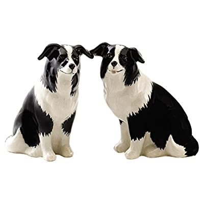 Quail Ceramics - Border Collie Salt And Pepper Pots from Quail Ceramics