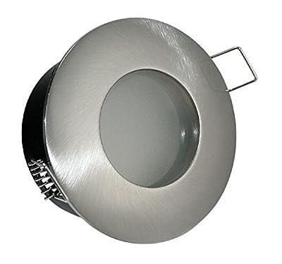 4er Set Feuchtraumstrahler Aquarius 230V IP54 in Edelstahl-gebürstet 60er SMD LED Warmweiß 3 Watt entspricht 30 Watt Leuchte von Kamilux
