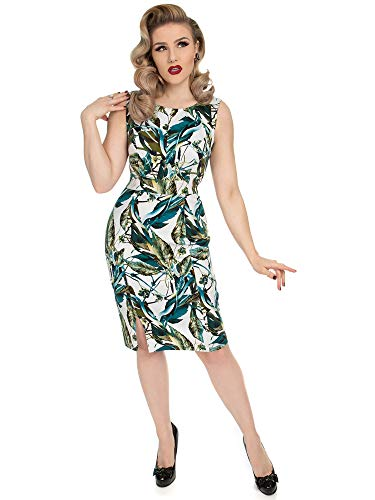 Hearts & Roses London Etuikleid Felicity Floral Wiggle Dress 5686 Weiß XS Felicity Rose