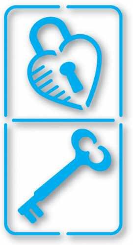 Unbekannt Sizzix Simple Impressions Prägeschablone Domino Lock & Schlüssel Messing Schablone 38-9801