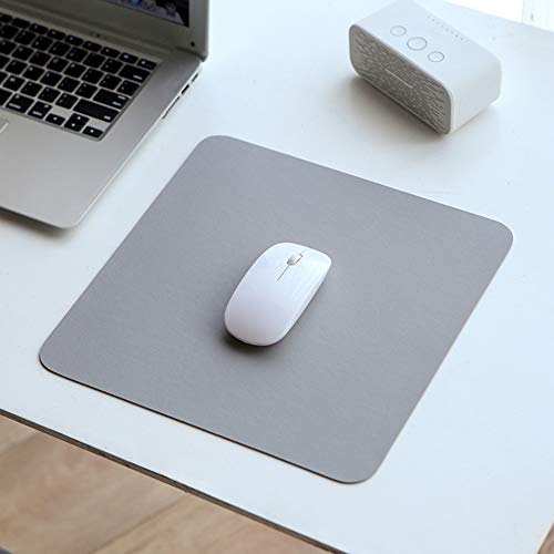 JiaQi Spiele Mauspad Für Haushalt Und Büro,Portable Mousepad,rechteck Dauerhaft Weiches Mouse Pad Mit Genähten Kanten Nicht-Slip Rubber-grau 22x22cm(9x9inch)