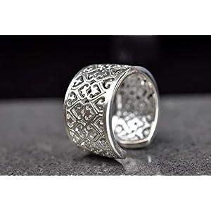 925 Sterling Silber Ring ORIENT größenverstellbar