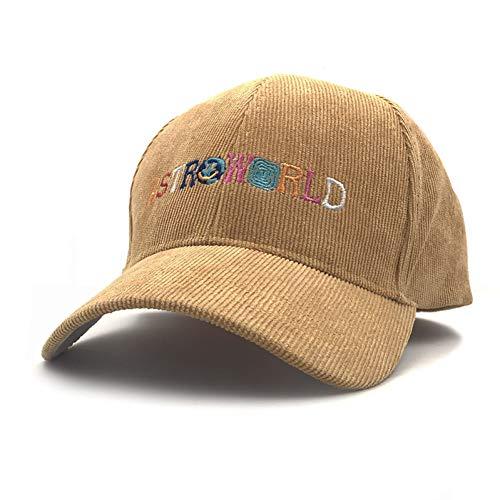 FXSYL Papa Hut Baseball Cap Cord Snapback Cap für Männer Frauen Hip Hop Knochen Snapbacks,Gelb -