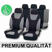 Sitzbezüge Sitzbezug Schonbezüge für Opel Mokka Schwarz Modern MG-1 Komplettset