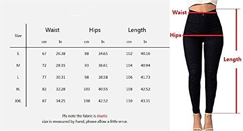 LooBoo Damen High-Waist Stretch Röhrenjeans Denim Jeans Modern Lässige Hosen Weiße