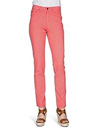 b23f2859d125 Kañopé mandarine dotty-Pantalon toile coupe slim-Femme