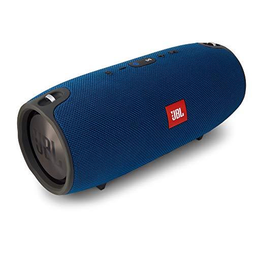 JBL Xtreme Spritzwasserfester Tragbarer Bluetooth Lautsprecher mit 10,000 mAh Akku, Dualem USB-Ladeanschluss und Freisprechfunktion - Blau (Drahtlose Handy-booster)
