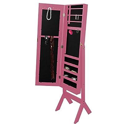 Schmuckschrank Schmuckkommode Spiegelschrank Schmuckkasten Schmuckbox mit Spiegel 159cm Standspiegel Schmuckaufbewahrung