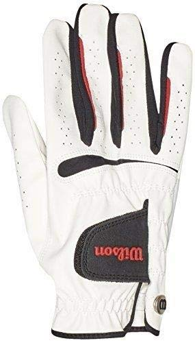 Wilson Herren Golfhandschuh, Größe L, Rechts, MRH, Weiß, Feel Plus, WGJA00065L -