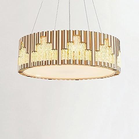 Yuyuan Light Postmodern Art Kronleuchter, Modern Einfache transparente Glasröhre Deckenleuchte, Wohnzimmer Restaurant Schlafzimmer Beleuchtung Dekorative Hänge lampe, Luxus Runde Eisen Kronleuchter, E27 Champagner
