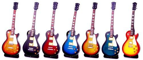 Miniatur E-Gitarre kleine Standart Les Paul 24 cm Pro Handgitarre Msikinstrument Mini Deko Gitarre Guitar (#farbe wählbar oder Zufall)