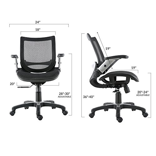 Poly and Bark Home Office Chair, Mesh, Black