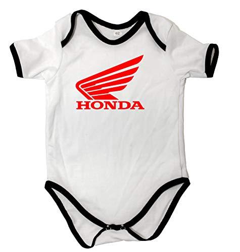 Cuerpo de bebé Unisex Honda Motocicleta Cuerpo de bebé Blanco Manga Corta...