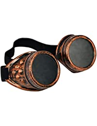d00470cb10e386 Vovotrade Vintage Style Steampunk Sunglasses Goggles Lunettes de Punk  Lunettes De Soleil Cosplay 50s