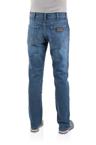 Wrangler Herren Jeans Arizona Stretch Worn Broke Blau (Burnt Blue 39E)