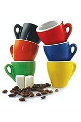 Idea Regalo - Galileo Casa Color Set Tazzine da caffè, Porcellana, Multicolore, 6 Pezzi, 6 unità