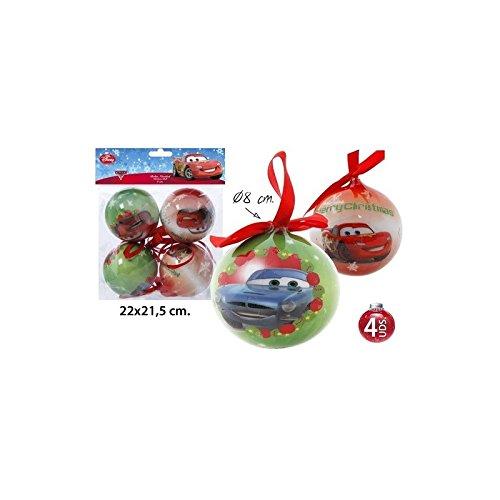 Disney Cars Weihnachtskugeln 4 Tlg. Weihnachtsbaumschmuck Ø8cm
