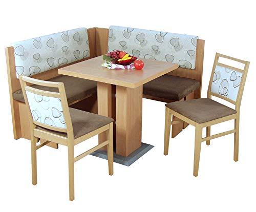 Hxt Küchenbank Gepolstert Moderne Sitzbank Mit Lehne In Weiß