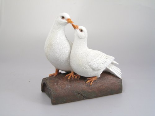 Vivid Arts 'Love Colombes' Paire de colombes en résine creux cooing à chaque autre