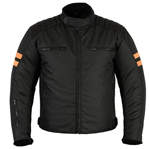 Motorradkombi Herren Textilien Motorradjacke + Motorradhose, Schwarz (XL)