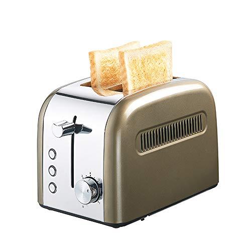 KKDWJ 2-Scheiben-Toaster mit extra breitem Schlitz Edelstahl-Toaster mit 7 Toasteinstellungen für schnelles, gleichmäßiges Toasten Herausnehmbarer Krümelbehälter,Green