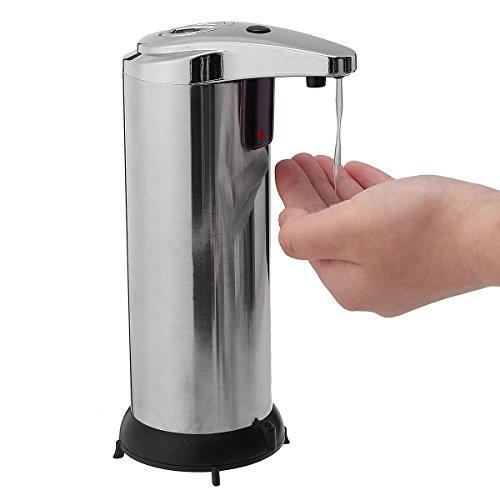 Automatische Seifenspender von TAPCET 280ml Seifenspender mit wasserdichtem Gehäuse, Chrome Rostfreien ABS