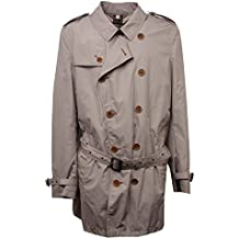 b1ed2d473cce BURBERRY E7190 Trench Uomo Brit Beige Trench Coat Jacket Man