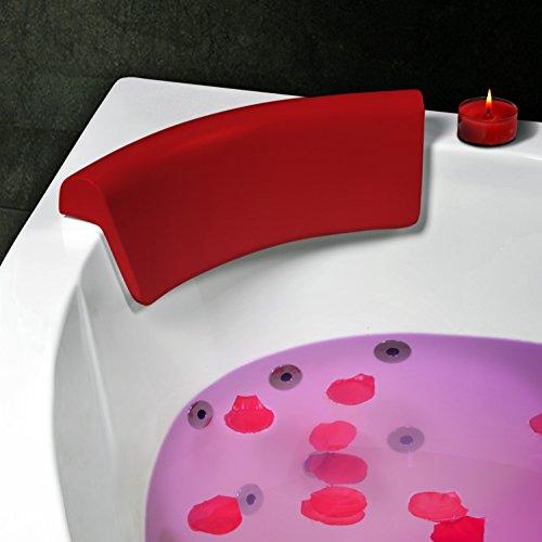 Kopf- und Nackenkissen für Badewanne (Eckwanne) Modell Ruhr Rot