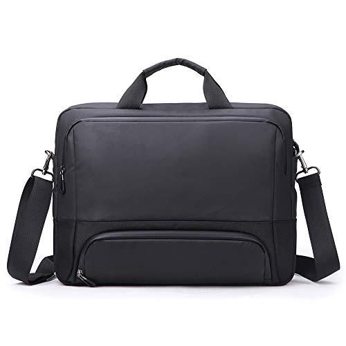 BR-Bag Business-Computer-Tasche, Anti-Diebstahl-Aktentasche, 15,6-Zoll-Laptop-Schultertasche, Regenschutz-Kuriertasche, Handtasche, Geeignet für Männer/Frauen - Schwarz