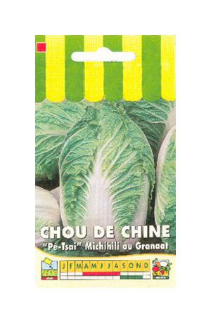 Les Graines Bocquet - Graines De Chou De Chine Michihili Ou Granaat - Graines Potagères À Semer - Sachet De 3Grammes