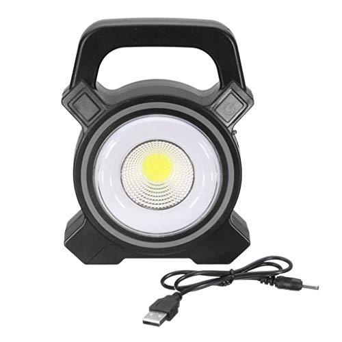 Pandiki Zufällige Farbe Kunststoff 30W Solar Power COB-Auto-Arbeits-Licht Outdoor-Camping-Licht tragbarer Lampe Akku