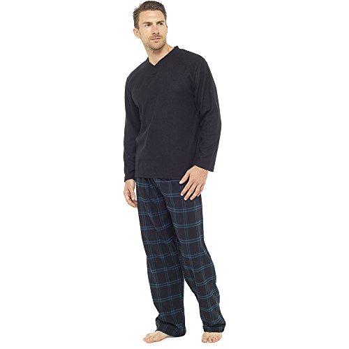 Tom Franks Herren Schlafanzug Schwarz