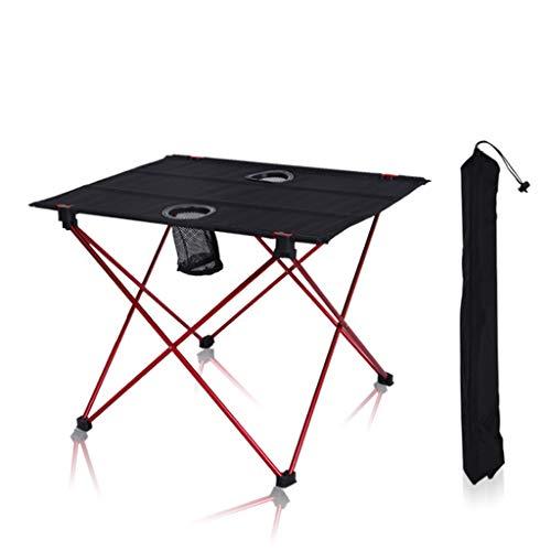 Yxsd Aluminium klapptisch Picknick Tisch im freien grilltisch höhenverstellbar 56 * 42 * 40 cm rot
